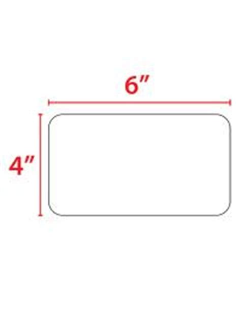 4x6 Quot Thermal Transfer Label Roll 4x6 Label Template