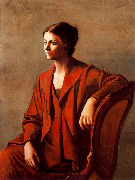 picasso paintings of olga olga 1923 pablo picasso wikiart org