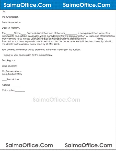 Letter Requesting Financial Support From Employer Letter For Financial Assistance Documentshub