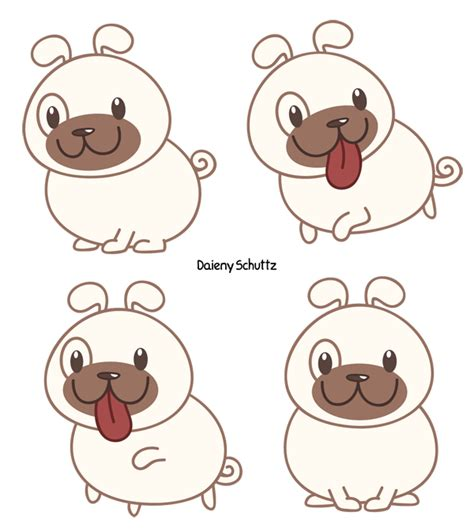 chibi pug chibi pug by daieny on deviantart