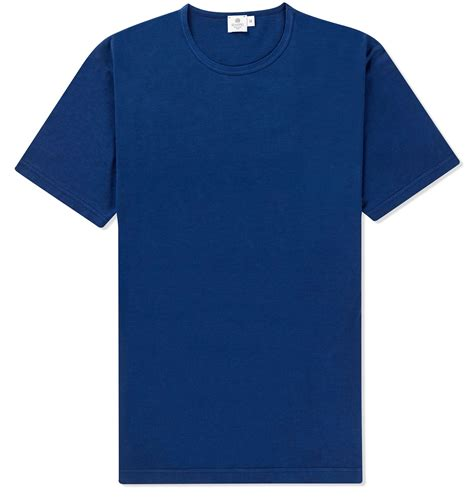 Shirt For Sunspel Indigo Tshirt In Blue For Lyst