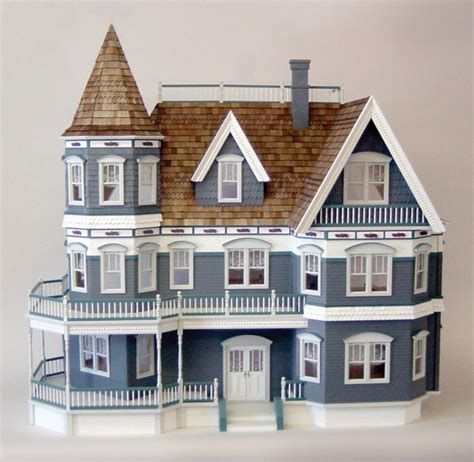 victorian doll house kit queen anne dollhouse kit minimedollhouses