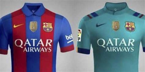 Kaos Nike Barcelona Rakuten Kaos Rakuten Barcelona Kaos Barcelona inilah bocoran terbaru jersey barcelona 16 17 bola net