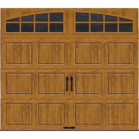 Clopay Gallery Collection 16 Ft X 7 Ft 18 4 R Value Garage Doors Home Depot
