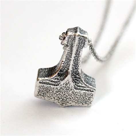 Usd Thor Silver thors hammer necklace silver thors hammer pendant necklace