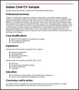 indian chef cv sle myperfectcv