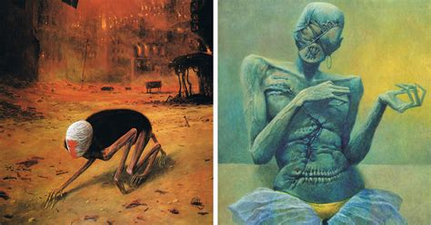 polish artist s terrifying art and his sad life story