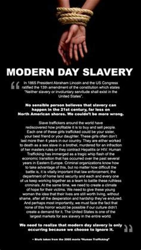 modern day slavery human 1511510358 quotes about human trafficking quotesgram
