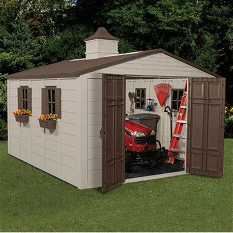 10x12 Storage Shed Suncast 174 Storage Building 10x12 1 2 138481 Patio