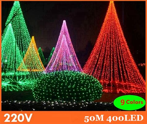 Lu Natal Outdoor aliexpress acheter 50 m 9 couleurs led guirlande