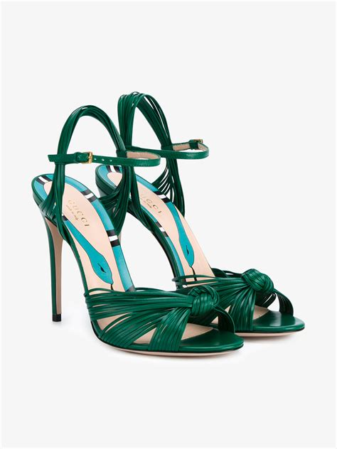 Sandal Slop Gucci Tagbox Gucci lyst gucci strappy sandals in green