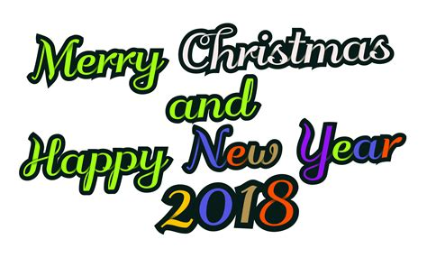 clipart merry christmas happy  year  decorative text