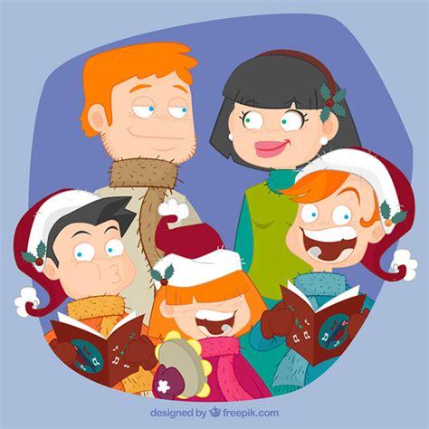 Family Natal I Do fam 237 lia dos desenhos animados do natal baixar vetores gr 225 tis