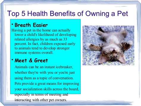 7 Benefits Of Owning A Pet by Pet Therapy Ppt