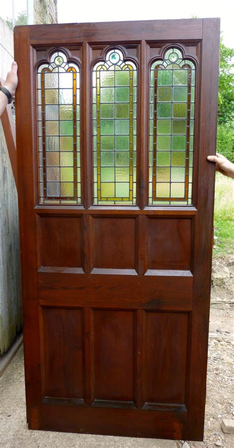 Glass Room Divider Doors Antiques Atlas Pine Door Stained Glass Room Divider Partition