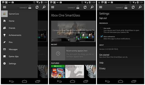xbox  smartglass app updated  support push notifications