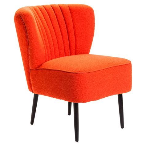 orange accent chair valencia accent chair in orange things i