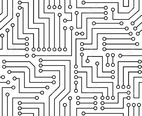 electronic pattern for photoshop 25525458 black and white printed circuit board seamless