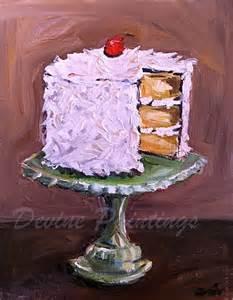cake painting coconut layer cake painting cake paintings