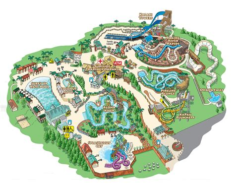 map of us water parks map of water park my