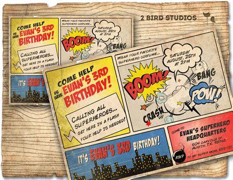 printable superhero stationery superhero invitation vintage superhero birthday invite