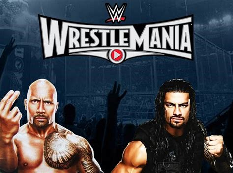 rock and roman reigns roman reigns sẽ đấu với the rock