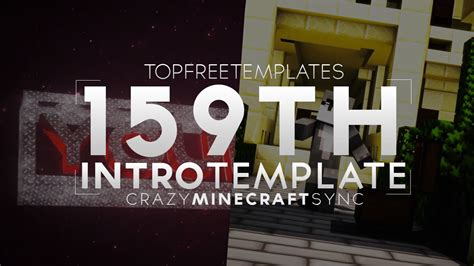 Free Intro Template Amazing 3d Animated Minecraft Sync 159 Youtube Top Free Templates