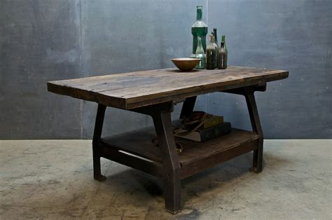 Bench Style Kitchen Table by Work Bench Style Kitchen Dinning Table Industrial