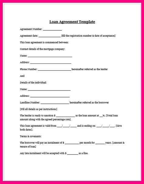 car loan agreement template 11 car loan contract template