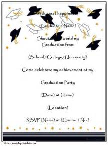 graduation invitation templates free printable invitations templates free printable