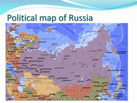 russia map political ppt let s learn about russia powerpoint presentation