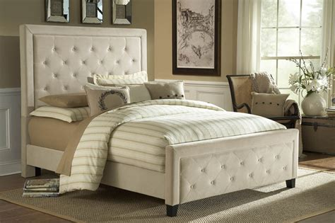 Size Headboards And Footboards by Kaylie Tufted Upholstered Bed In Buckwheat Microfiber