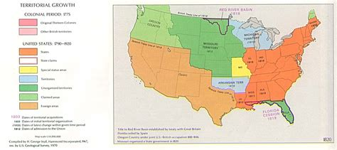 map of the united states in 1820 united states territorial growth map 1820 full size