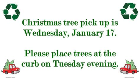 christmas tree pick up christmas tree pick up trappe borough