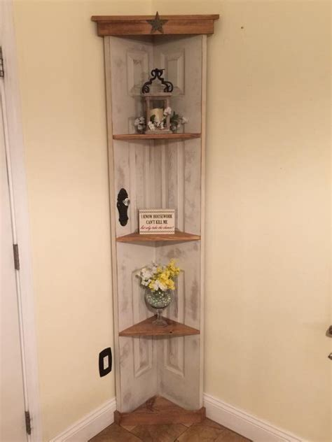 On The Shelf Home by Custom Door Corner Accent Shelf Bookcase Country Home