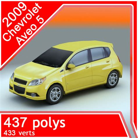 Gm 21 3ds Max Animation 2009 chevrolet aveo 5th 3d model