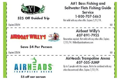 free coupons for amusement parks