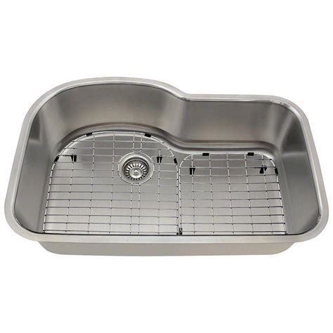 stainless steel one bowl kitchen sink polaris sinks all in one undermount stainless steel 31 in