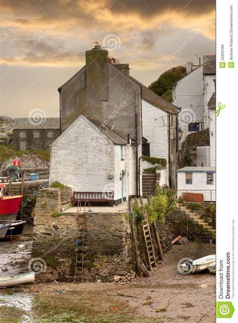 cornish harbour england royalty  stock photo image