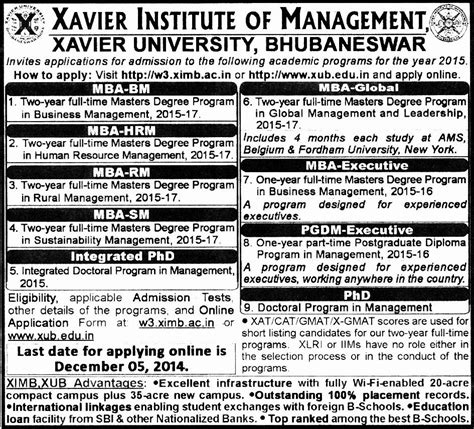 Mba Admission Notification by Mba College S Admission Notification 2015 Imi Imt Mdi