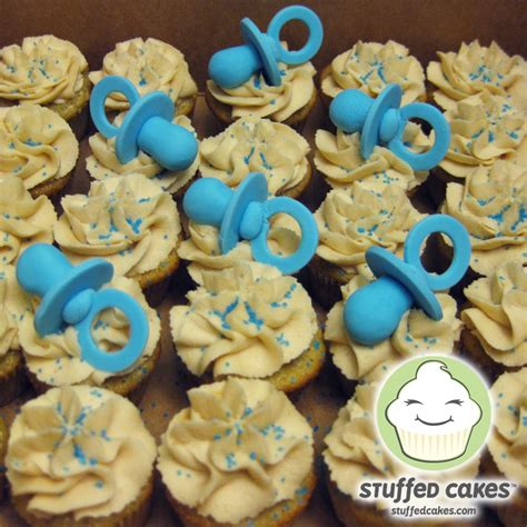 Cupcakes For Baby Shower by Stuffed Cakes Baby Shower Mini Cupcakes