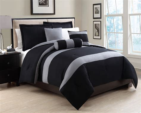6 piece king tranquil black and gray comforter set ebay