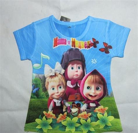 Kaos Anak Masha The 345th 1 kaos anak masha and lengan pendek 2 7 tahun