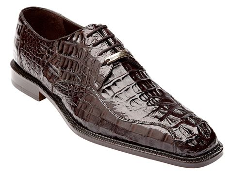 alligator shoes belvedere chapo brown all genuine hornback crocodile