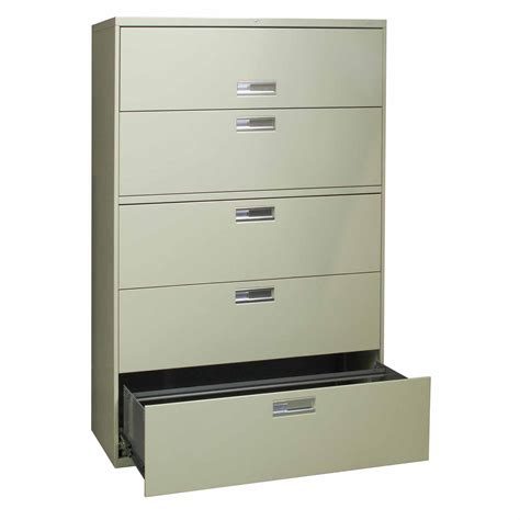 5 vertical file hon brigade 600 series used 5 42 inch lateral file