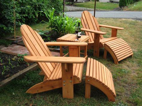 handmade adirondack patio set by sam s workshop