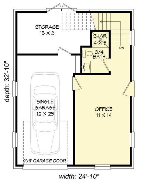 detached home office plans architectural designs