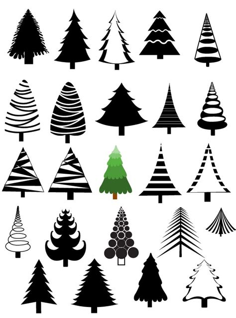 christmas trees vectors brushes shapes png picture