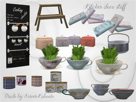 Things By Mode Deco by Kitchen Deco Stuff By Arwenkaboom At Tsr Via Sims 4