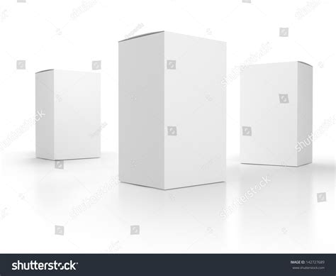 blank paper boxes composition template render stock